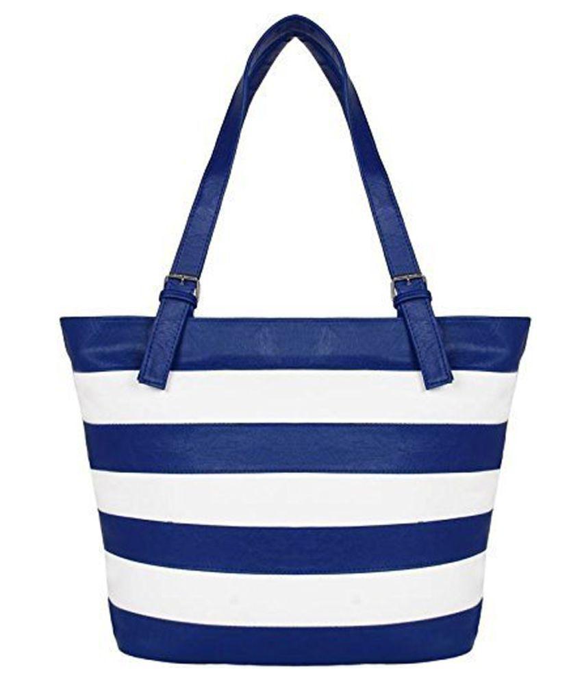 pipines Blue P.U. Shoulder Bag