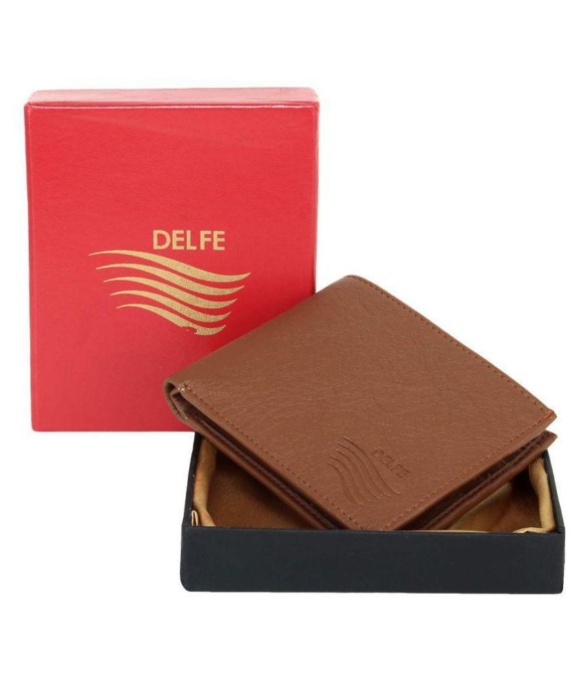 Delfe Faux Leather Brown Casual Regular Wallet