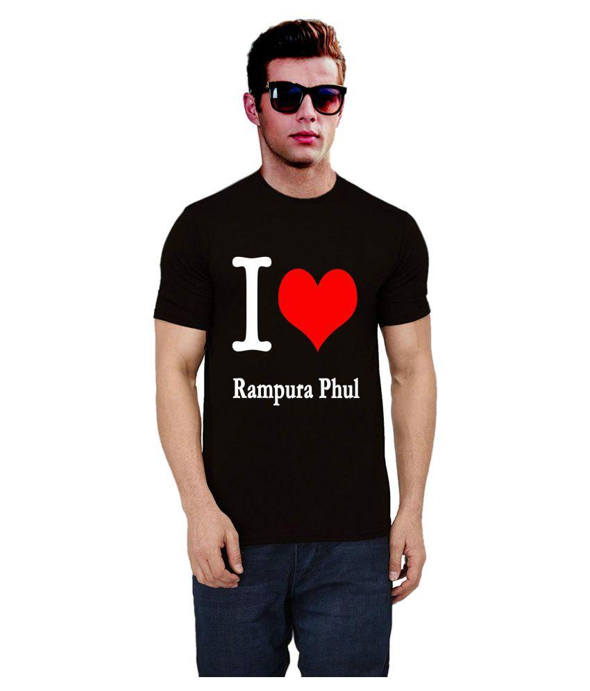 Ritzees 100 Percent Cotton Black Printed T-Shirt
