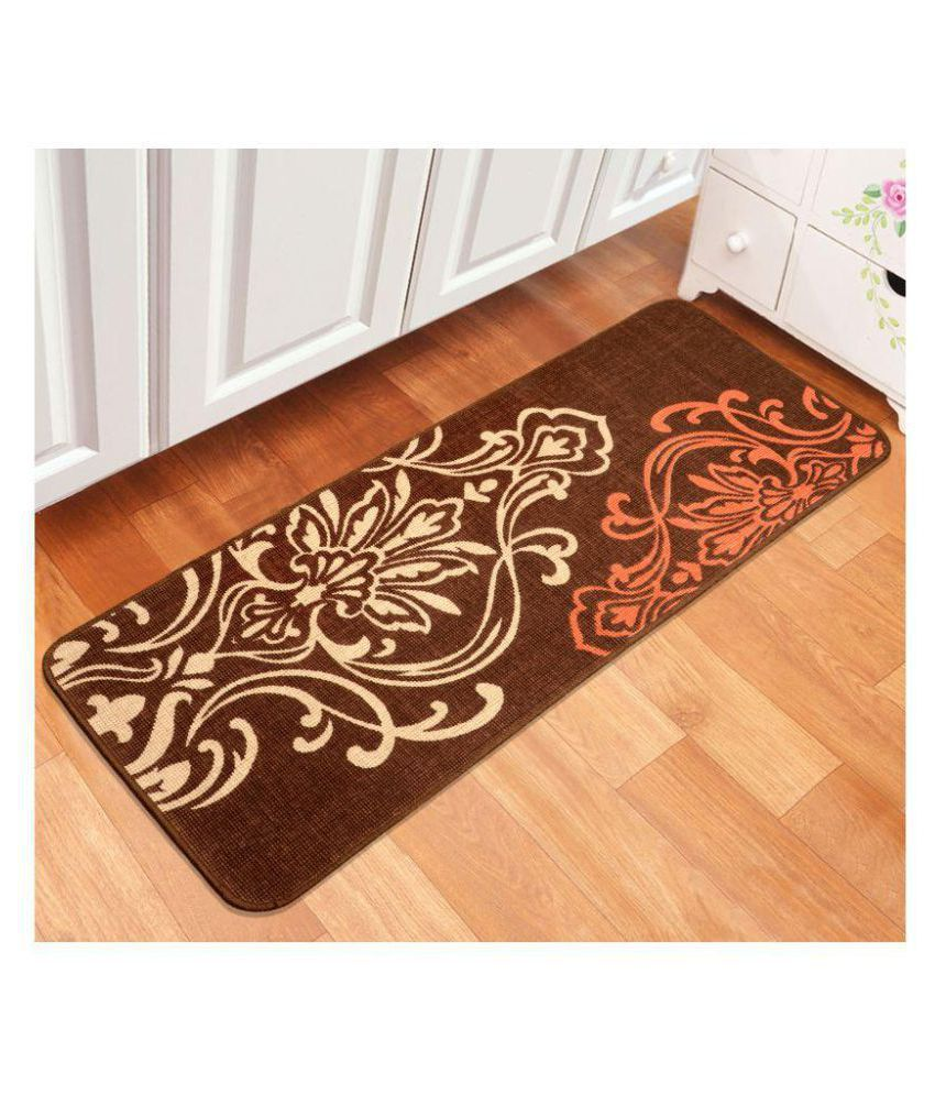 Saral Home Brown Runner Single Cotton Floral Other Sizes Ft