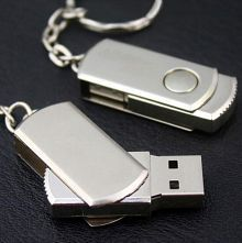 Personality Business U Disk Rotation 32GB Silver