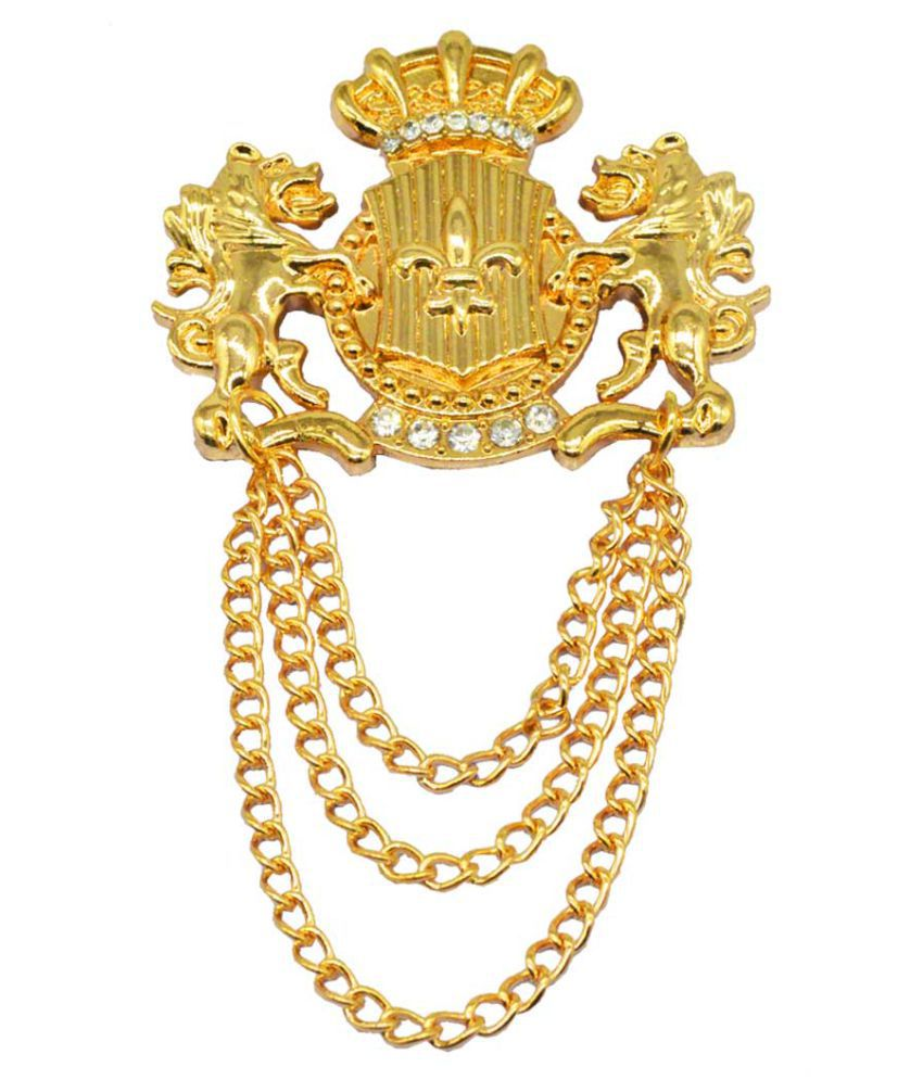 Sullery Gold Alloy Brooches