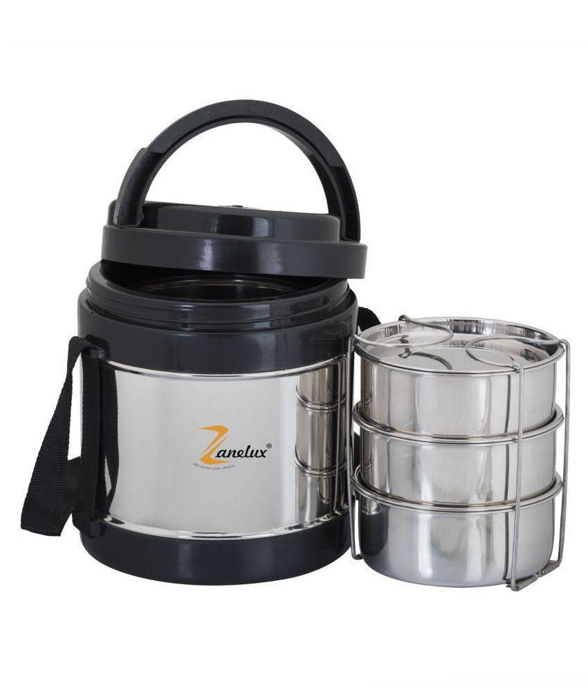 Zanelux Silver Steel Lunch Box