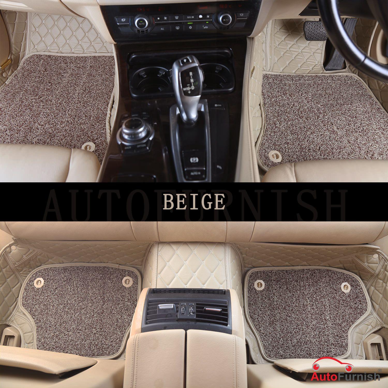 Autofurnish 7D Luxury Custom Fitted Car Mats For Mercedes E200 2019 - Beige