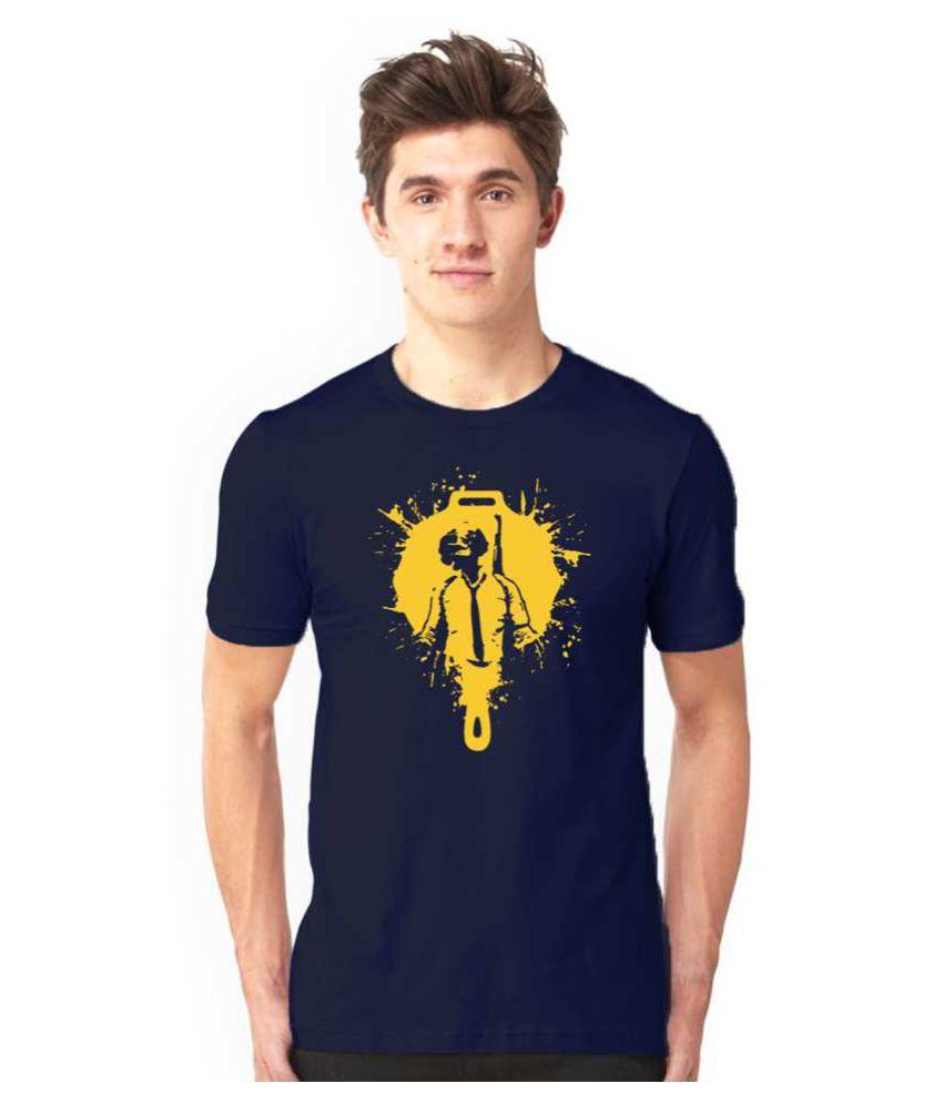 Ratan's Cotton Blend Blue Printed T-Shirt