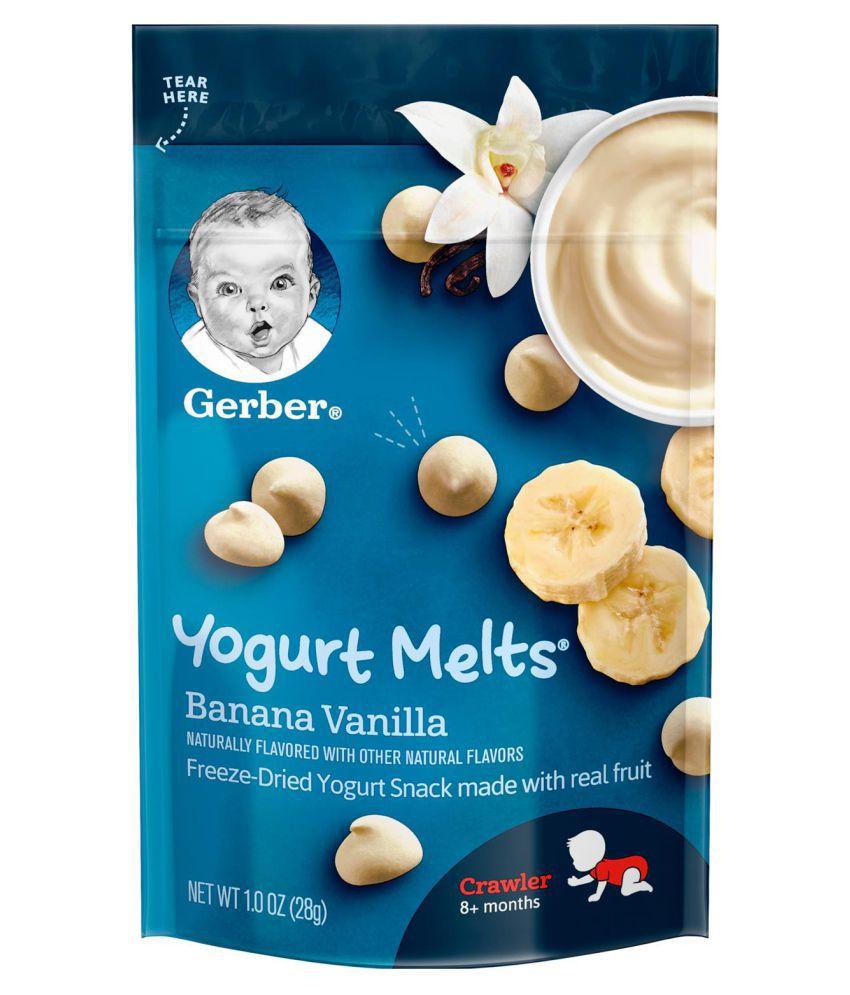 Gerber Banana Vanilla Snack Foods for Under 6 Months ( 28 gm )
