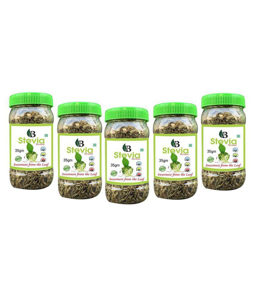 Livebasil Overseas Stevia Dry Leaves - Dry Stevia Leaves - Sugarfree Stevia Leaf - Dry Leaves Pack Of 5