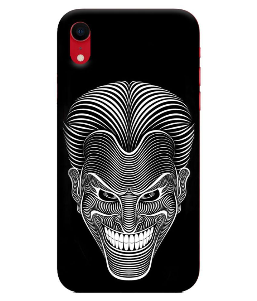 Apple iPhone XR Printed Cover By Digi Swipes Joker Amazing Art Mobile Back Cover and Cases Raised Lip for screen protection.