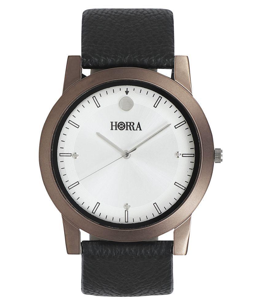 Horra AGP08SR3MSVO Leather Analog Men's Watch