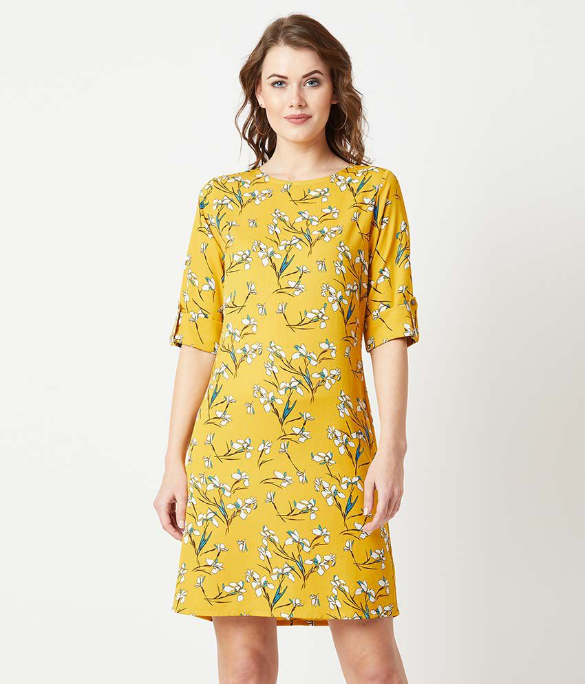 Miss Chase Crepe Multi Color Shift Dress