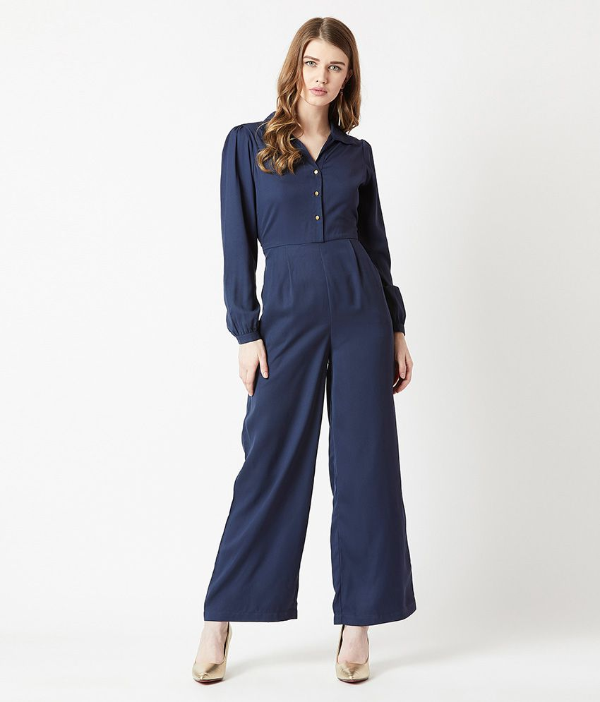 Miss Chase Navy Crepe Jumpsuit