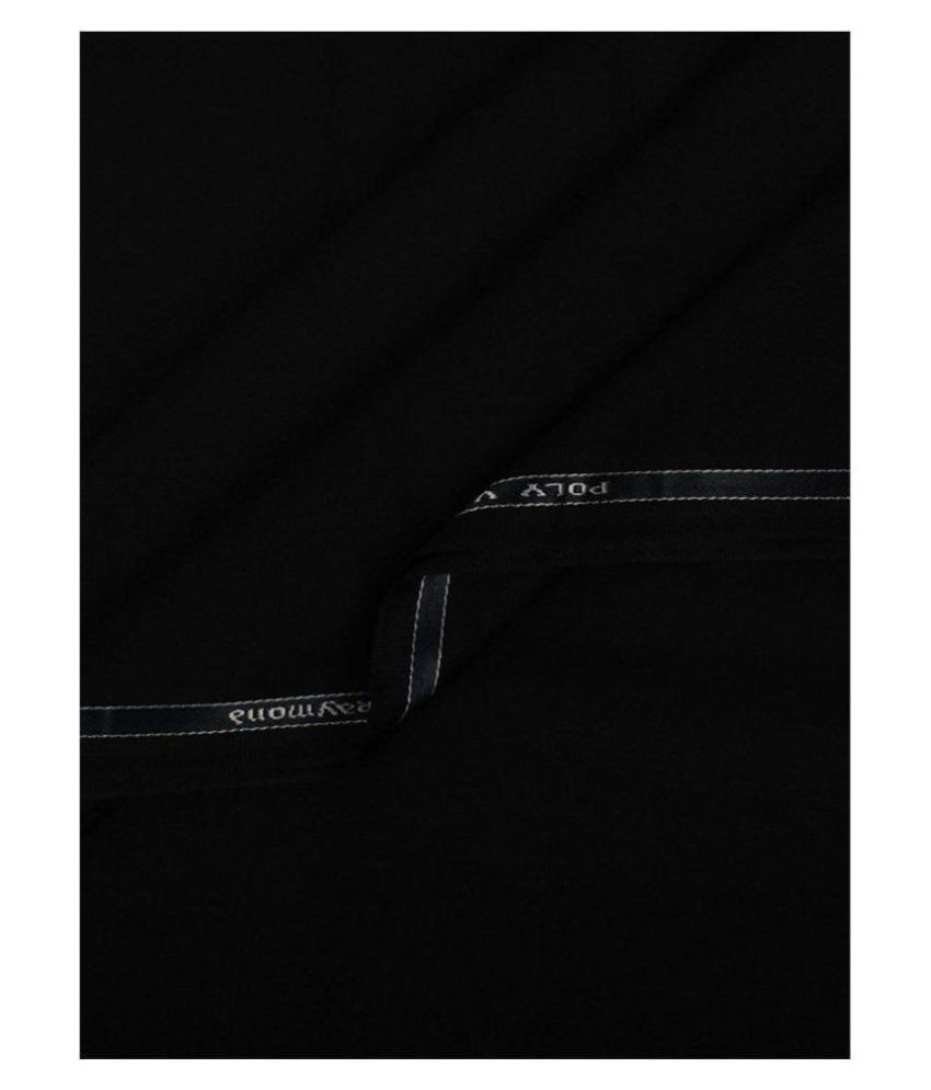 Raymond Black Poly Blend Unstitched Pant Pc