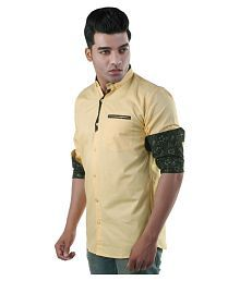 d01d3ec5af188f Gold Color Partywear Shirt: Buy Gold Color Partywear Shirts Online ...