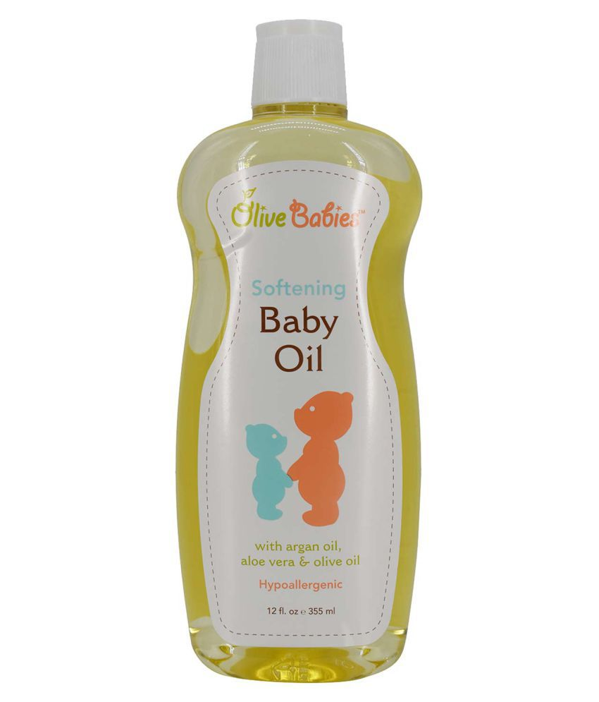 Olive Babies Softening Baby Oil - 355ml (12oz)