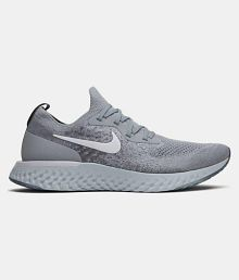 best website 6026a f489f Quick View. Nike Epic React Flyknit Grey Running Shoes