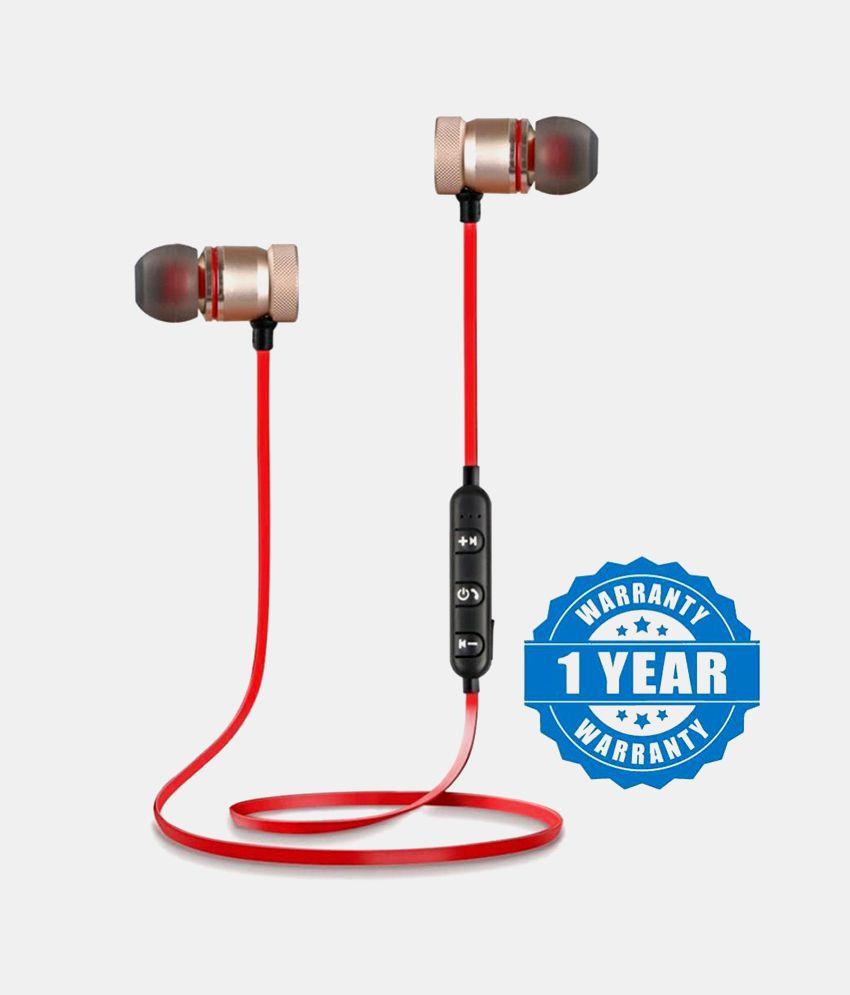 cc52eaa5f72 BASS Sports 4.1Bluetooth Magnet (Red)Earphone/Headphone Ear Buds Wireless  Earphones With Mic For MI, Redmi, Xiaomi,Vivo Samsung & More - Buy BASS  Sports ...
