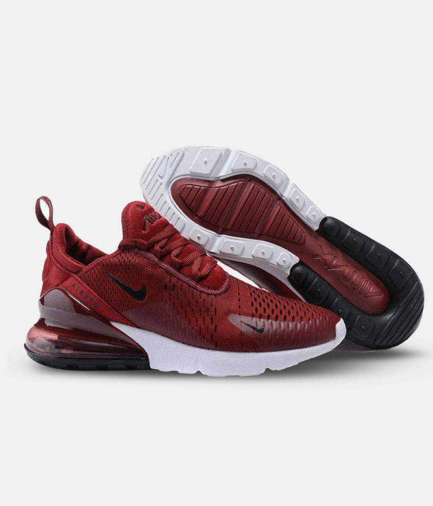 newest be047 5c3ca Nike AIR MAX 270 Red Running Shoes ...