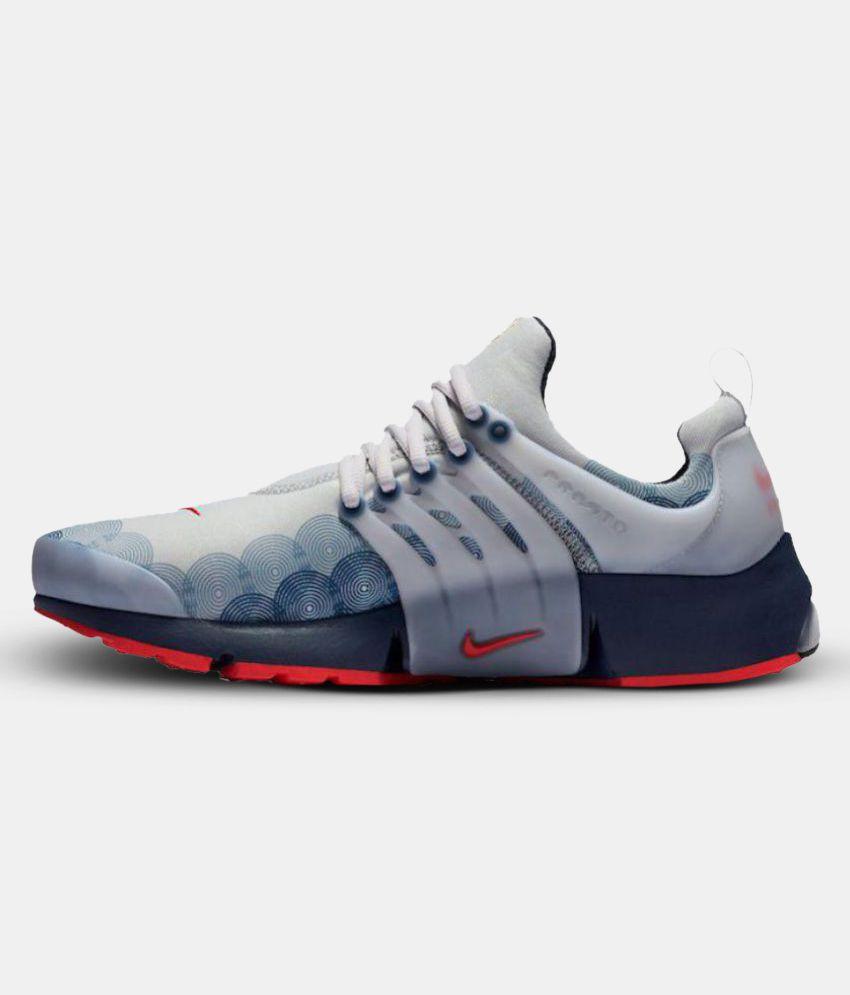Nike Air Presto U S A  White Running Shoes