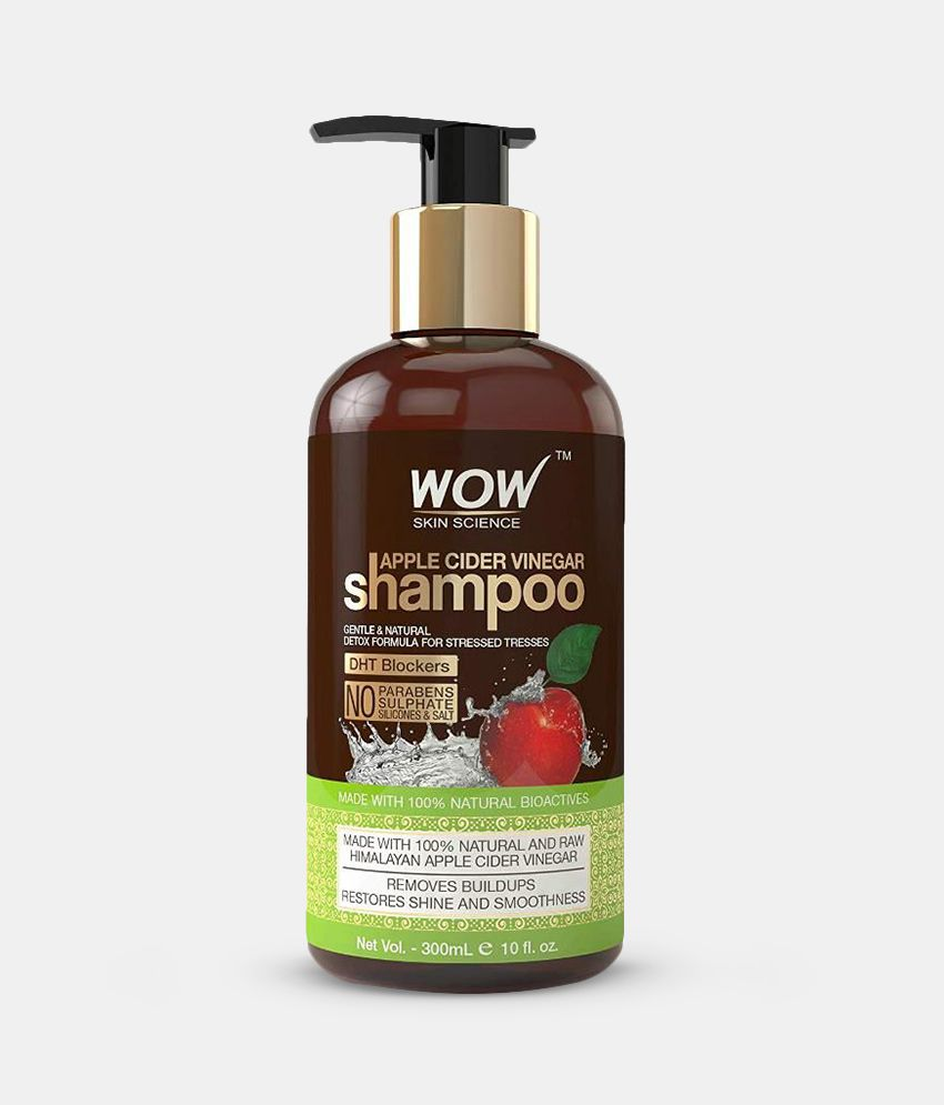 WOW Skin Science Apple Cider Vinegar Shampoo (No Sulphates, Parabens,  Silicones and Salts) 300 mL