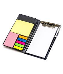 Memo NotePad With Sticky Notes and Clip Holder Along With Pen Diary Style