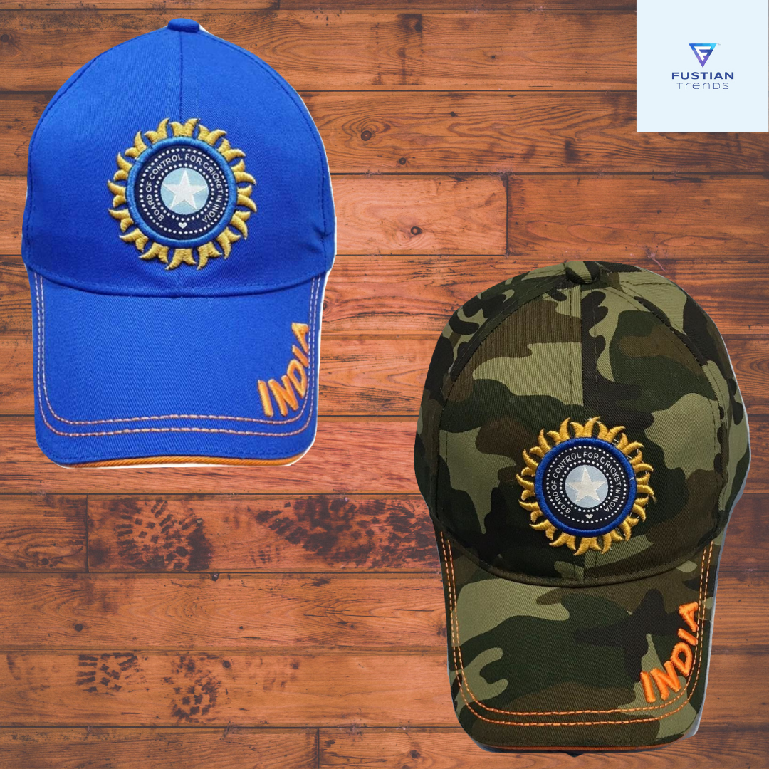 INDIAN CRICKET TEAM BLUE & ARMY PRINTED CAP FOR BOYS & GIRLS