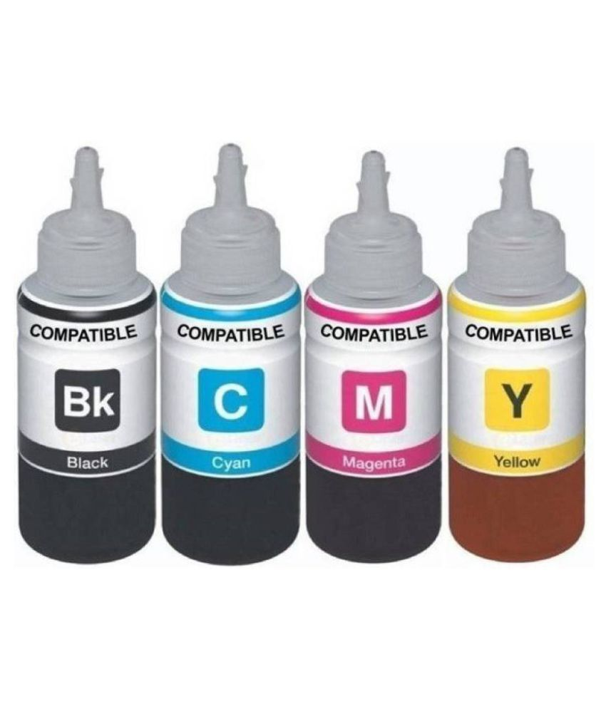 Kataria Refill Ink Multicolor Pack of 4 Ink bottle for For Epson Premium Quality InkJet Cartridges
