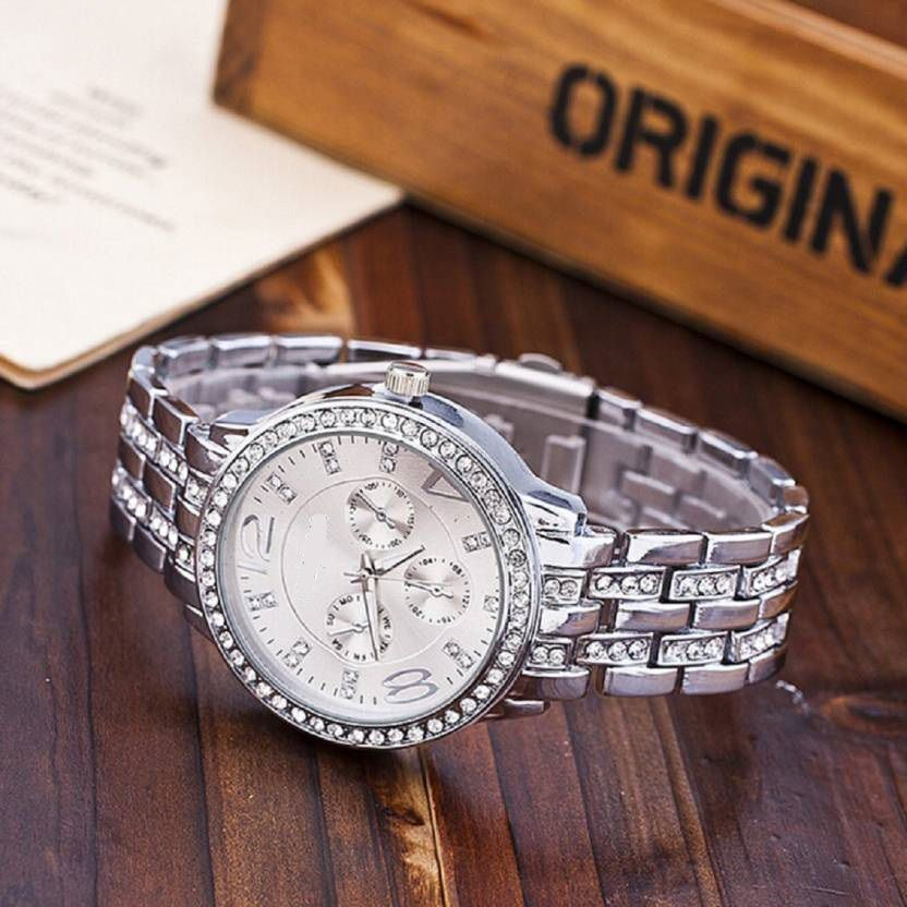 Renaissance Traders Stainless Steel Round Womens Watch
