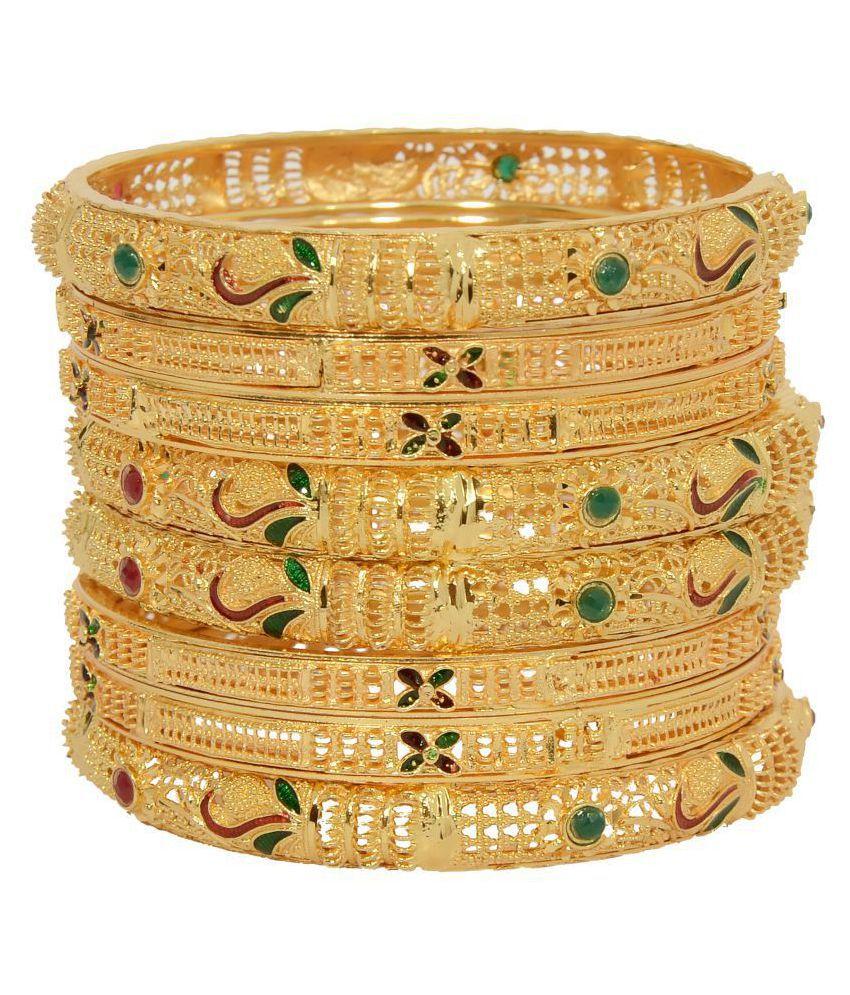 71ebe59496fad Mansiyaorange Original Look One Gram Gold Bangles For Women