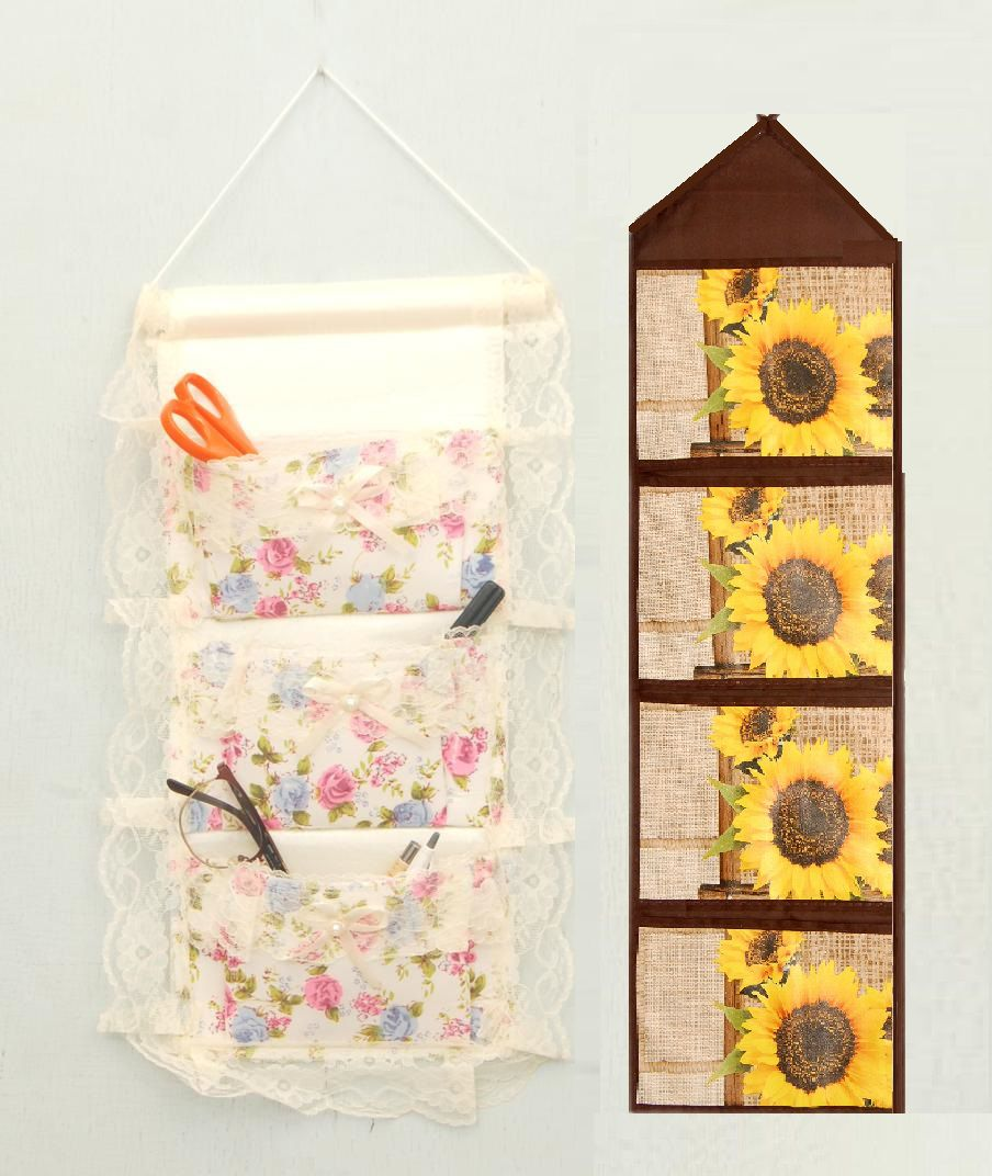 5344a86a5e8a Winner Combo of Soft Cloth Door Wall Hanging Storage 3 Pockets(1 Pc ...