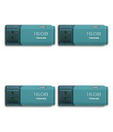Toshiba Toshiba U202A 16GB USB 2.0 Utility Pendrive Pack of 4