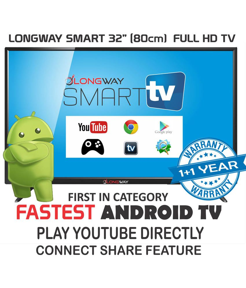 cd2b0d295a9 Buy LONGWAY S7005 80cm (32) Smart Full HD (FHD) LED Television With 1+1  Year Extended Warranty Online at Best Price in India - Snapdeal