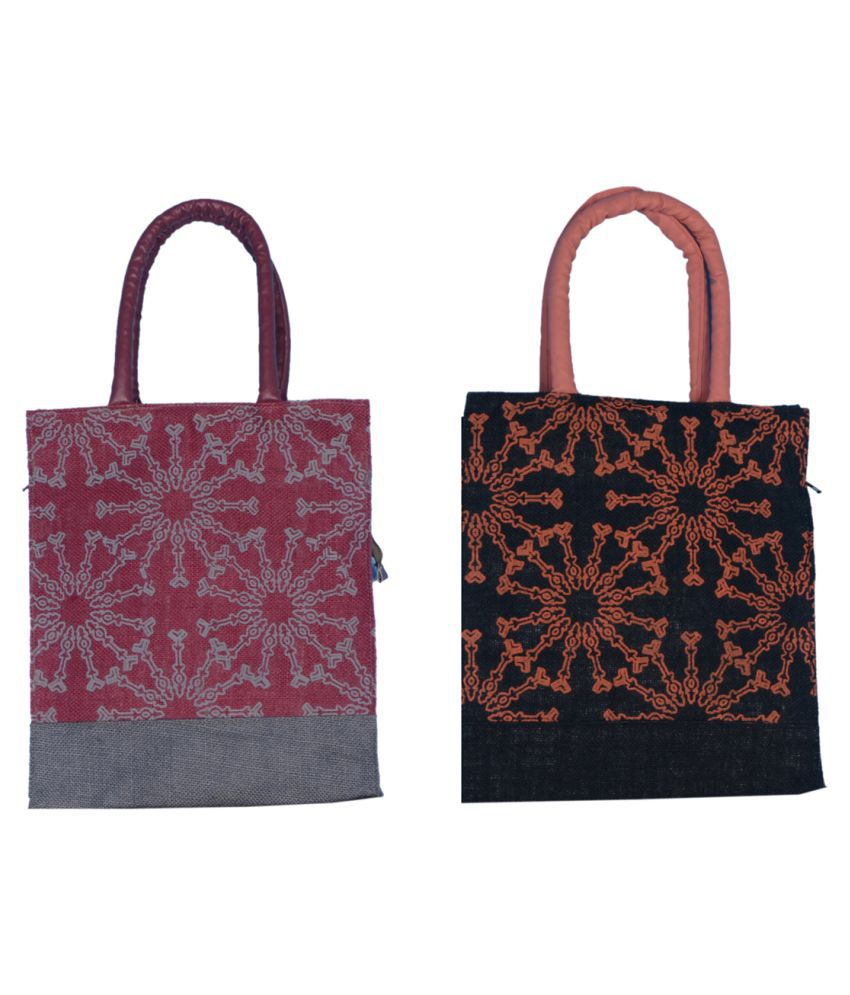ABV Traders Multi Lunch Bags - 2 Pcs