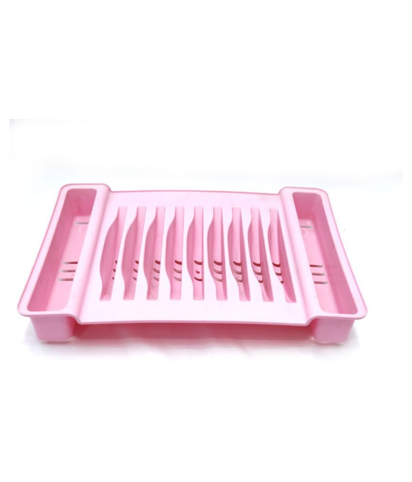 Large Plastic Dish Drainer Plate Cutlery Rack