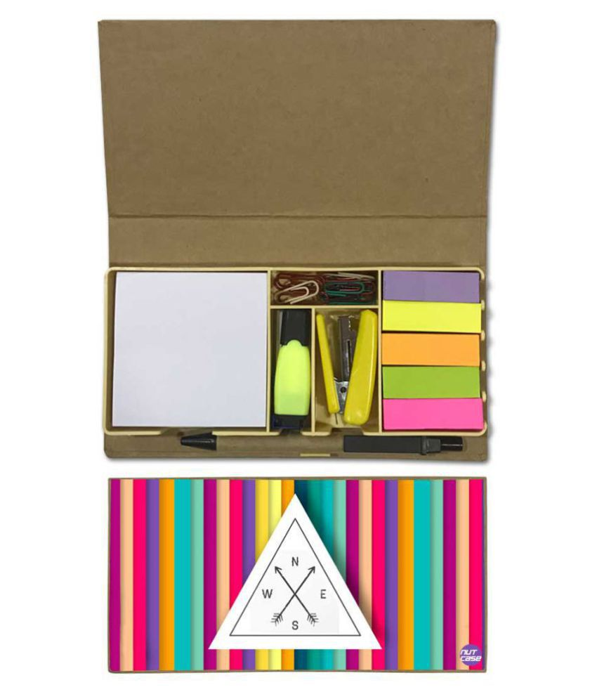 Nutcase Designer Stationary Kit Desk Customised Organizer Memo Notepad - North South