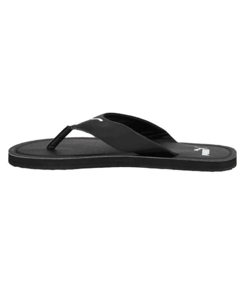puma black daily slippers factory 25731