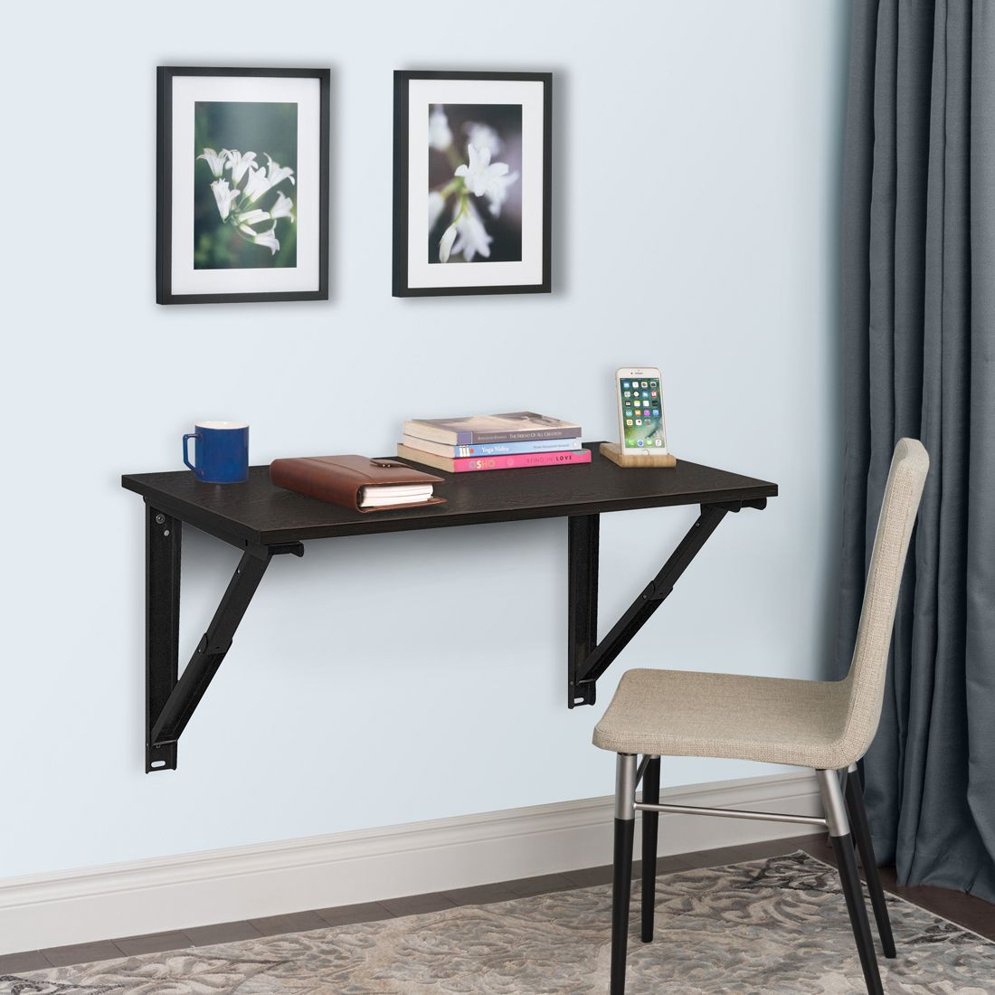 36 Inches Wizard Folding Study Table Wenge Colour by Delite kom
