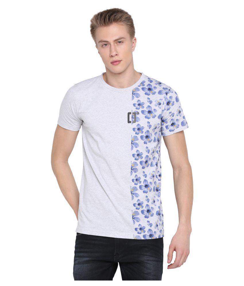 BULLMER Grey Half Sleeve T-Shirt
