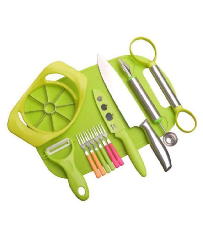 Banesco Chef Knife, C.arving Knive, Peeler, Chopping Board Combo