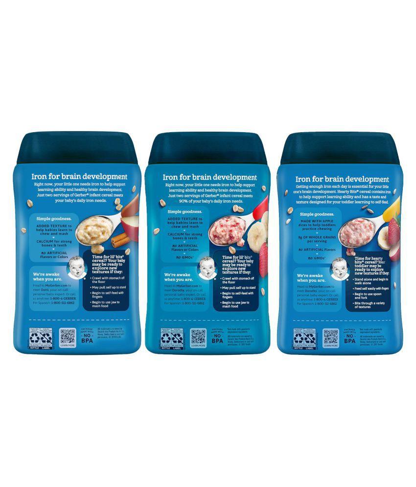 Gerber Assorted Infant Cereal For 6 Months + ( 1800 Gm