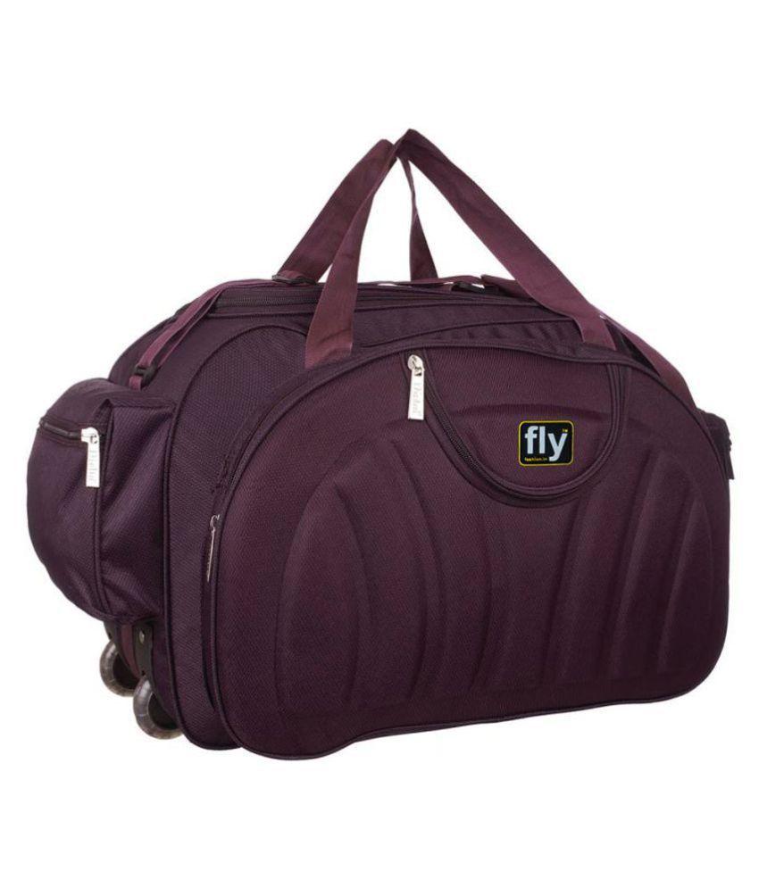 Fly Fashion Purple Solid M Duffle Bag