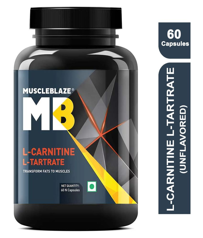 MuscleBlaze L Carnitine L Tartrate 60 no.s Fat Burner Capsule