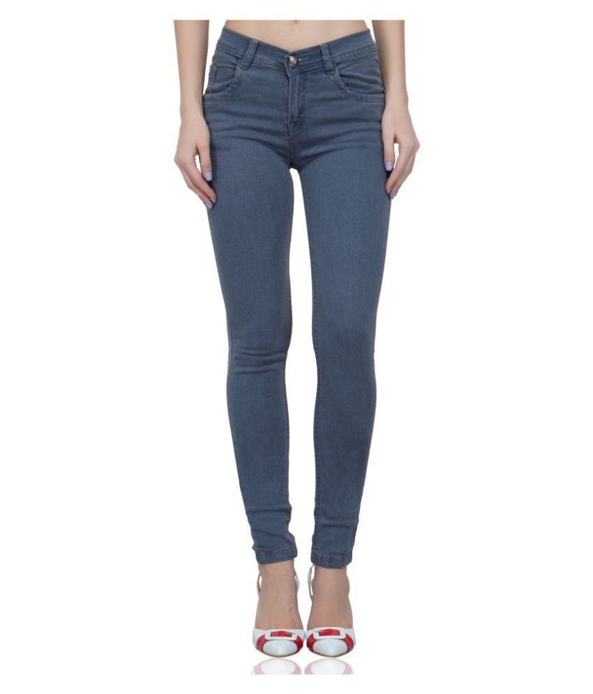 Luxsis Denim Lycra Jeans - Grey
