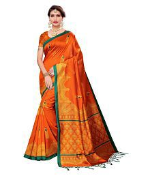 Maruti Orange Mysore Silk Saree