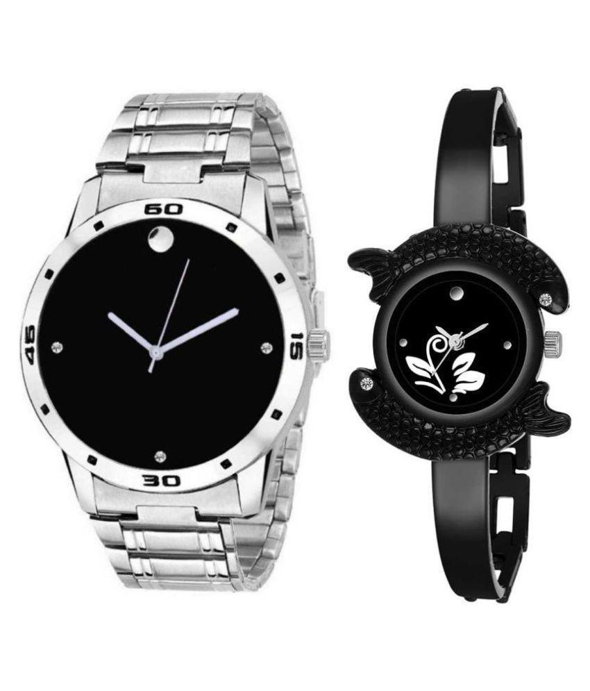 Herita Enterprise men and women analogue stylish fashionalble couple watch pack of 2 with 1364956589