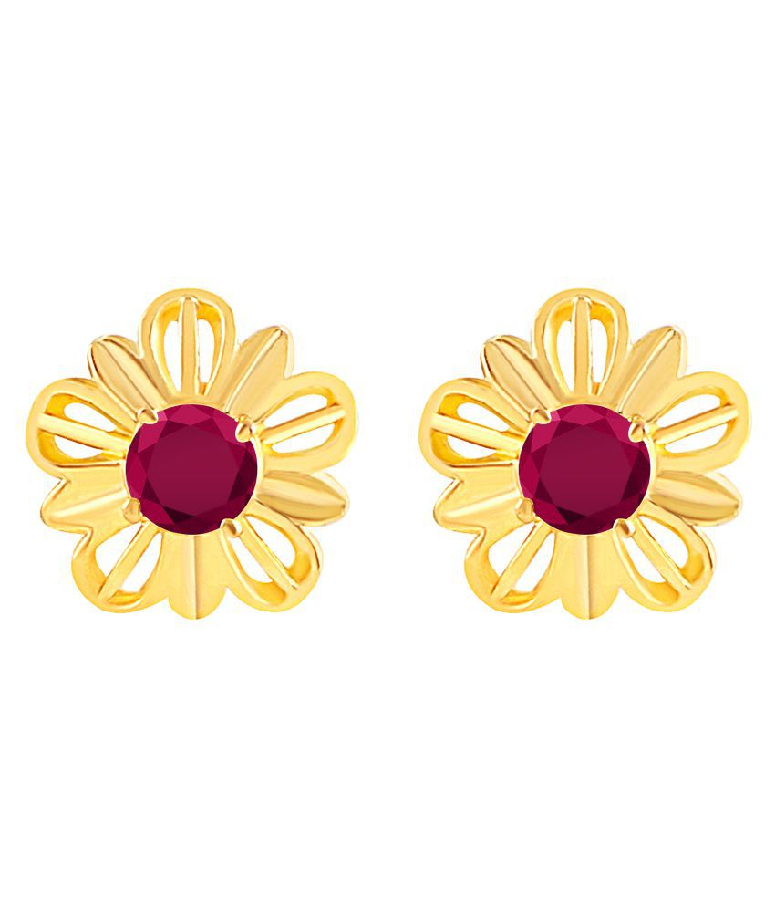 MFJ Fashion Jewellery Desirable Brass Gold Plated Stud Earring For Women