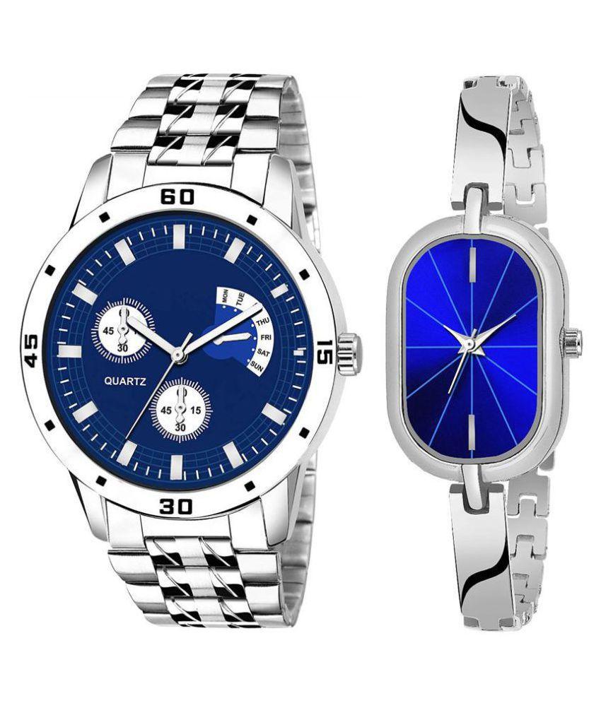 Vrutti enterprise men and women analogue stylish fashionalble couple watch pack of 1 with 1364956661