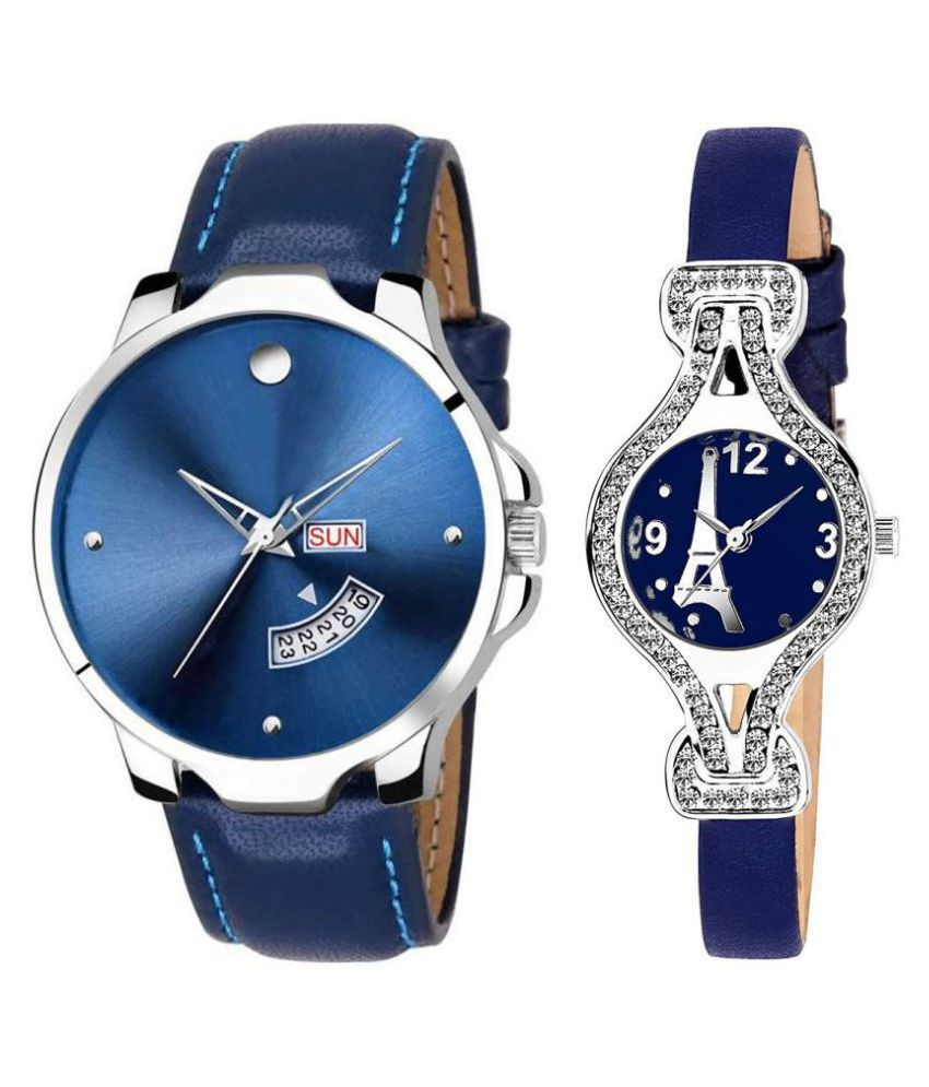 Vrutti enterprise men and women analogue stylish fashionalble couple watch pack of 2 with 1364956611