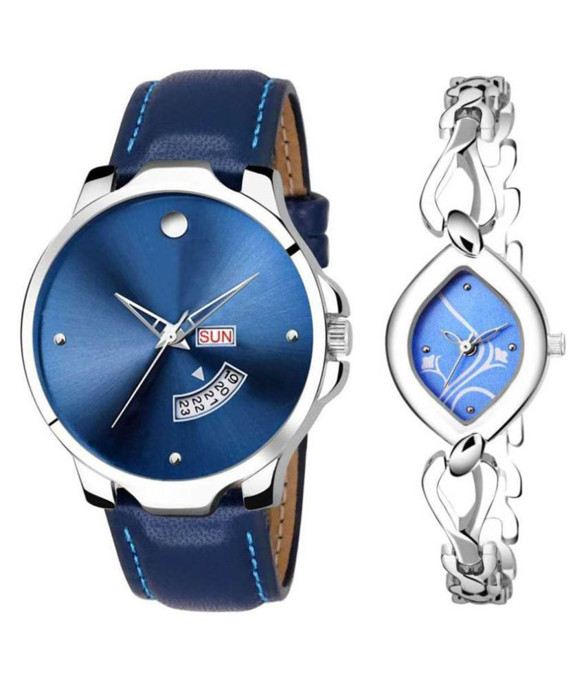 vasant impex men and women analogue stylish fashionalble couple watch pack of 2 with 1364956619