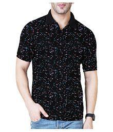 6633634e Quick View. Veirdo 100 Percent Cotton Black Printed Polo T Shirt