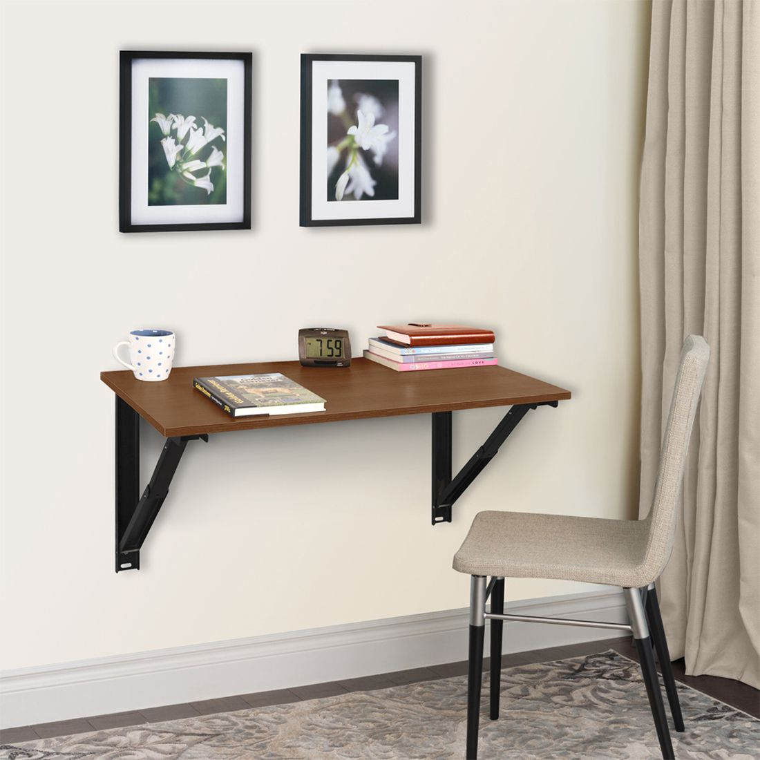32 inches Wizard Folding Study Table/Laptop table Acacia Dark  by Delite kom